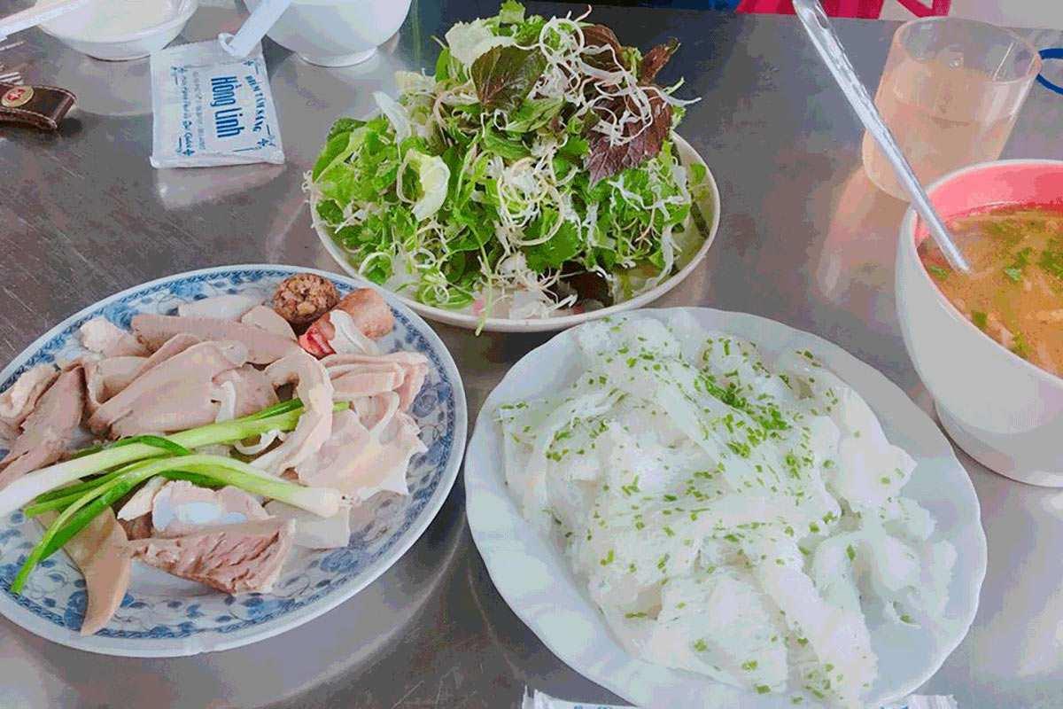 Banh hoi chao long hong linh