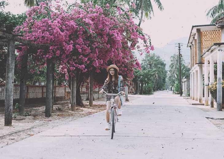 Mùa hoa giấy nở rộ, tô điểm cho trại Phong Quy Hòa luôn rực rõ - Ảnh: ST