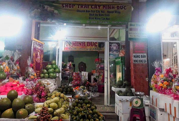 Cửa hàng trái cây sạch Minh Đức, Quán nhỏ nhưng trái cây rất sạch và tươi ngon - Ảnh:ST