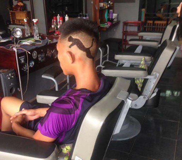 Với những kiểu tóc độc lạ, và rất phong cách tạo nên thương hiệu cho barber shop chính - Ảnh:FB Barbershopchinh