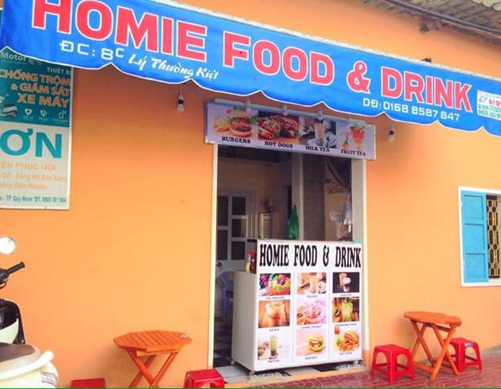Homie Food Drink một quán nhỏ nhưng rất đông khách và được nhiều người lựa chọn - Ảnh:ST
