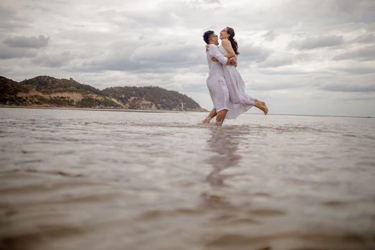Những bức ảnh bên biển cũng rất đặc sắc