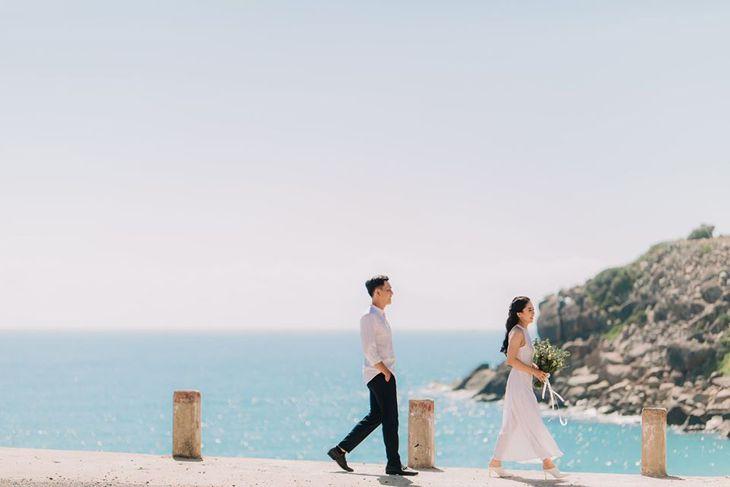 Background biển Quy Nhơn đẹplong lanh