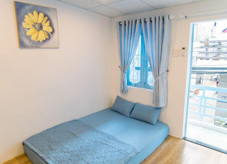 Phòng giường đơn rất đơn giản nhưng đầy đủ tiện nghi - ảnh:ST