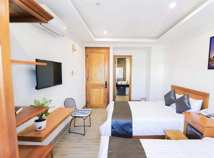 Phòng giường đôi cũng có đầy đủ tiện nghi và lịch sự - ảnh:ST