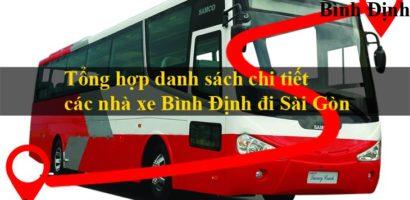 [Cập Nhật 2020] Tổng Hợp Các Xe Khách Bình Định Đi Sài Gòn