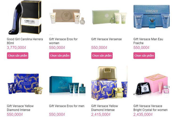 Giá bán được niêm yết trên website và chất lượng được đảm bảo