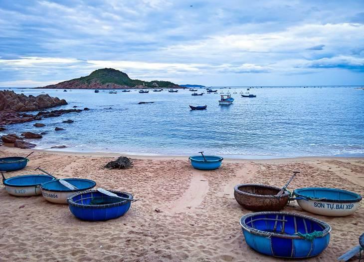Bãi biển xinh đẹp, thanh bình - ảnh:ST
