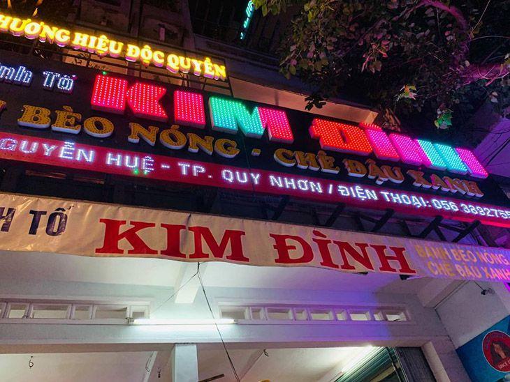 Bánh bèo Kim Đình một quán khá nỗi tiếng, nằm trên đường Nguyễn Huệ - Ảnh:ST