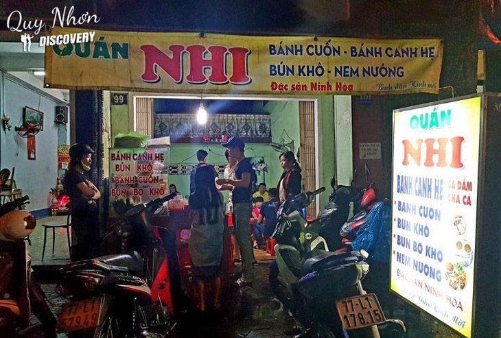 Quán bánh canh hẹ Nhi, tọa lạc tại số 39 Nguyễn Thái Học nhé!