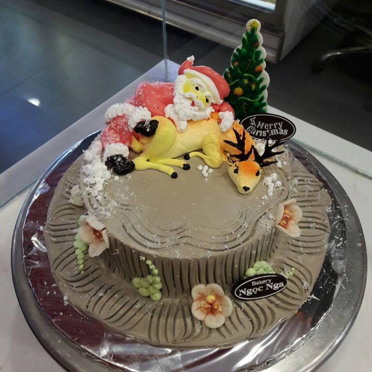 Bánh sinh nhật ngon, và không quá ngấy - ảnh: ST