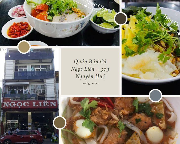 Bún cá Ngọc Liên cũng là một địa điểm ăn trưa rất nỗi tiếng ở Quy Nhơn
