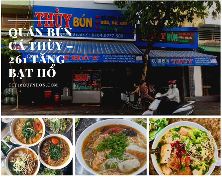 Quán bún cá Thùy một trong những quán ăn trưa ngon nhất Quy Nhơn