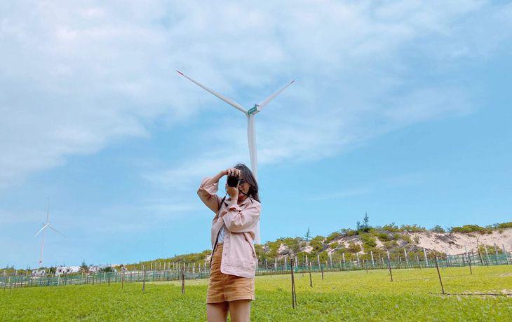 Cánh đồng quạt gió nhìn tuyệt đẹp - Ảnh: Huynhnguyenbaotran