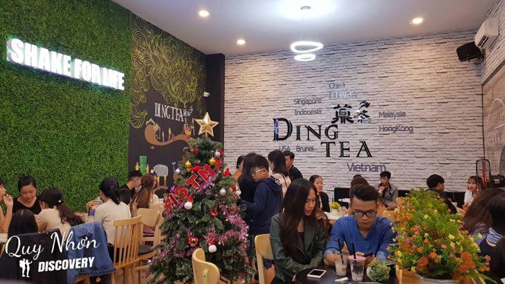 Quán Ding Tea Quy Nhơn được rất nhiều bạn trẻ lựa chọn - Ảnh:ST