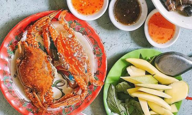 Quán hải sản Ghẹ 23 tọa lạc đường Võ Đình Tú là một trong những quán hải sản ngon nhất nhì khu vực đó - Ảnh:ST