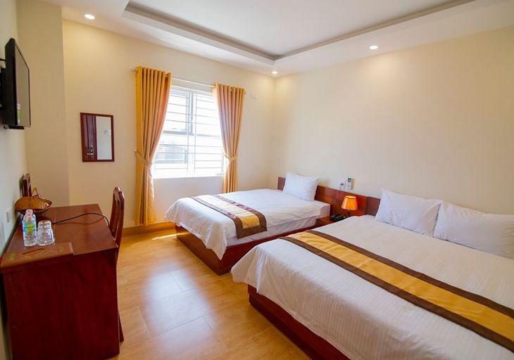 Phòng ngủ 2 giường ơ Green hotel - ảnh:ST