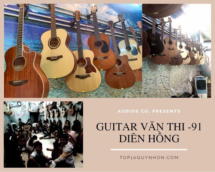Đây là shop nhạc cụ chuyên guitar với rất nhiều dòng guitar chất lượng