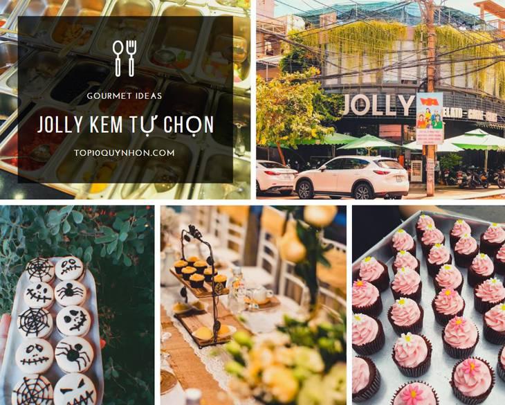 Quán kem Jolly một trong những quán kem nỗi tiếng, được rất nhiều bạn trẻ lựa chọn ở Quy Nhơn - top10quynhon.com