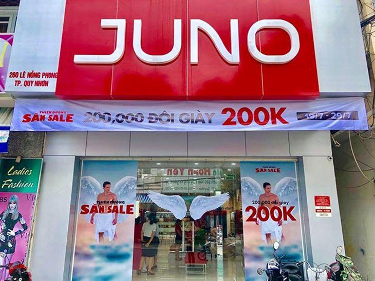 Juno là shop bán giày dép nữuy tín và có hệ thống lớn trên cả nước - Ảnh:ST