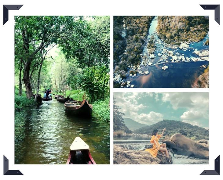 Du thuyền trên sông, cảm giác như đang đi ở Tràng An vậy