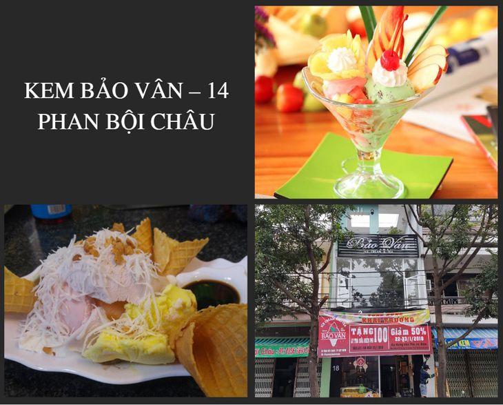Kem Bảo Vân cũng là 1 cửa hàng bán kem lâu đời ở Quy Nhơn và ở đây có rất nhiều loại kem ngon, độc đáo - top10quynhon.com