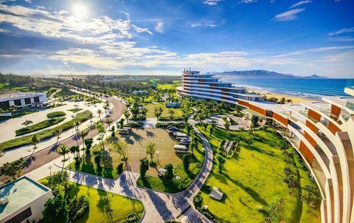 View nhìn trên cao của FLC Quy Nhơn, một quần thể du lịch nghĩ dưỡng rất đẹp - ảnh: FLCQuyNhon