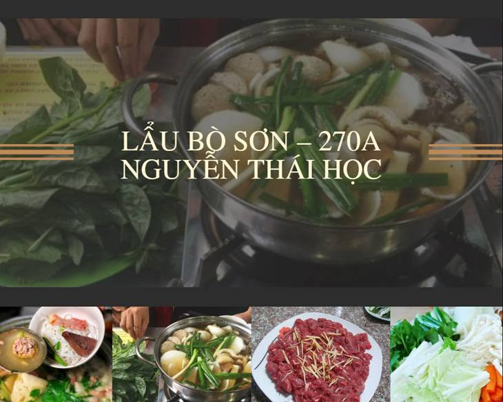 Lẩu bò Sơn, đây là một trong những quán lẩu bò lâu đời và rất được yêu thích ở Quy Thành -top10quynhon.com