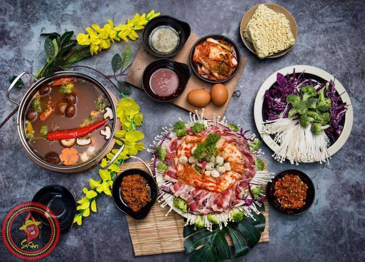 Các món ăn mang hương vị của xứ xở kim chi - Ảnh:ST