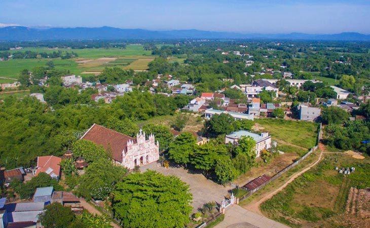Quang cảnh nhà thờ kim châu nhìn từ trên cao - Ảnh:ST