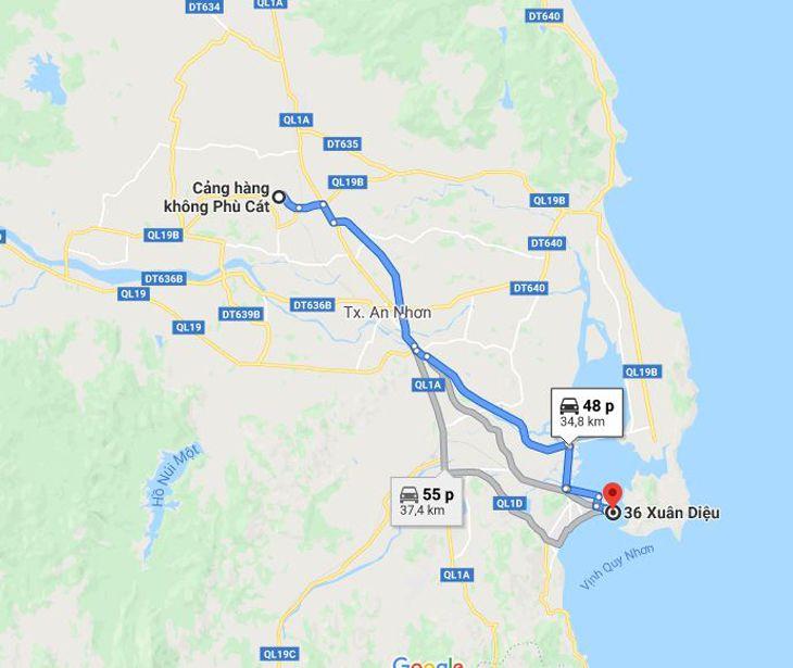 Với khoảng cách khoảng 35Km, có rất nhiều dịch vụ di chuyển từ Sân Bay về Quy Nhơn