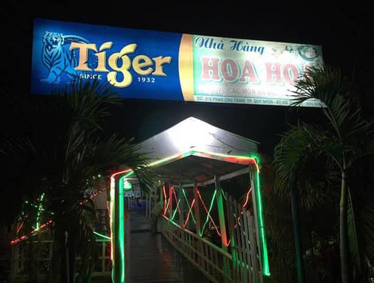 Nhà hàng hải sản Hoa Hoa một trong những nhà hàng hải sản ngon nhất Quy Nhơn - Ảnh:ST