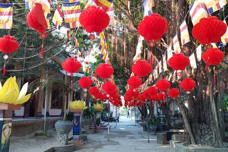 Không gian tịnh xá Ngọc Hòa Quy Nhơn rất đẹp và thanh tịnh - ảnh:top10quynhon