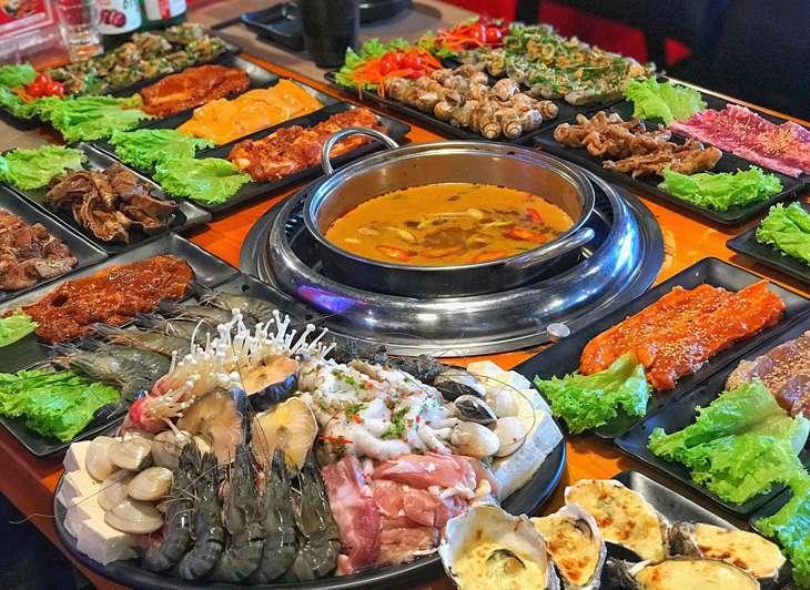 Các món nướng và lấu tại Vua Nướng Quy Nhơn rất đặc sắc và rất nhiều món ngon - ảnh:ST